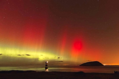 This stunning picture of the Aurorae was taken in North Wales by xxx.