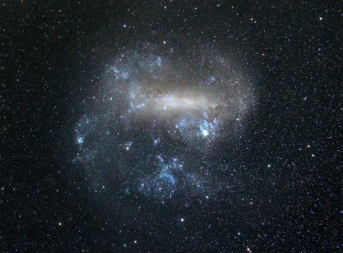 The Small Magellanic Cloud, which lies about 200,000 light years away.