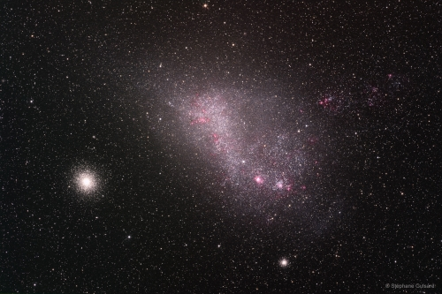 The Large Magellanic Cloud, which lies about 165,000 light years away.